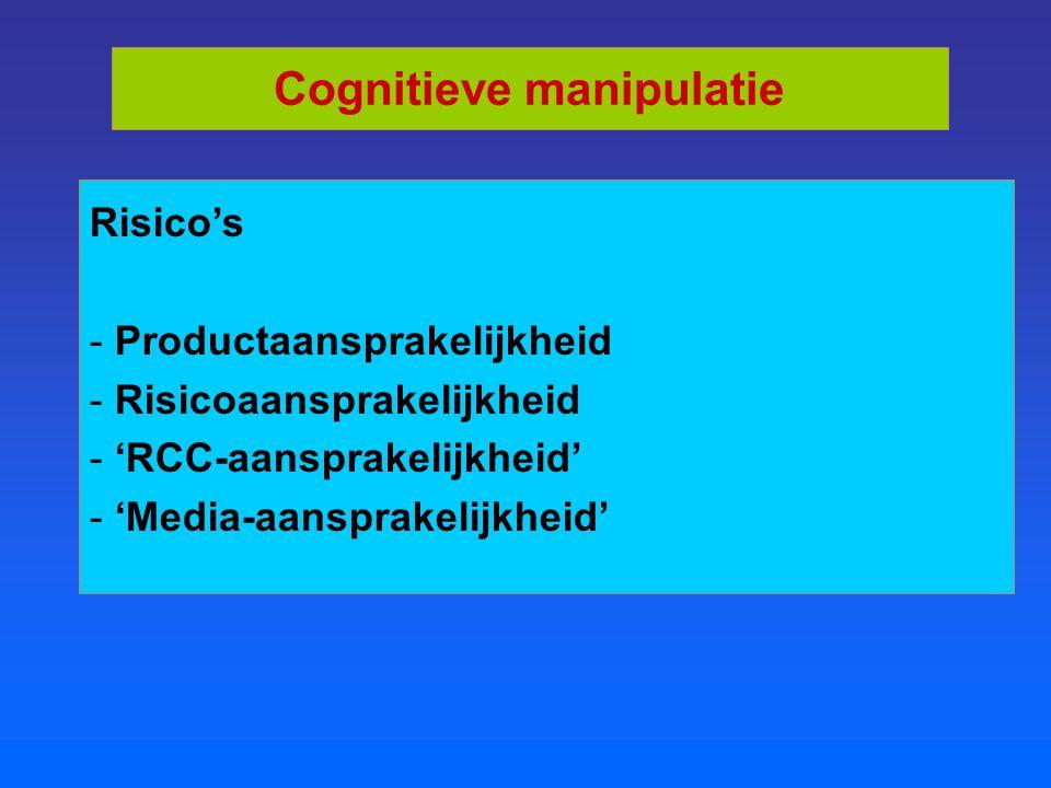 Cognitieve manipulatie