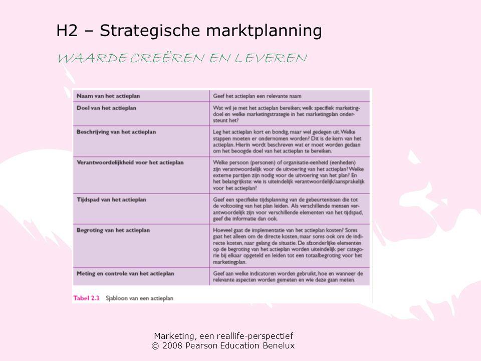 H2 – Strategische marktplanning WAARDE CREËREN EN LEVEREN