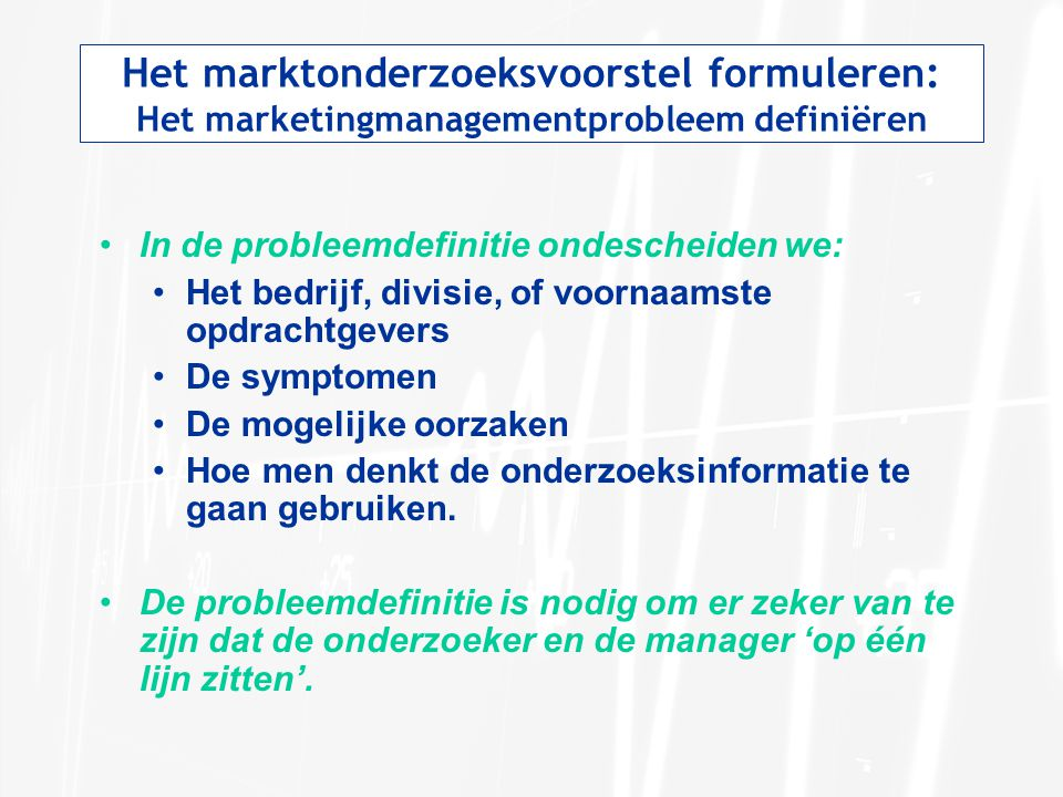 Het marktonderzoeksvoorstel formuleren: Het marketingmanagementprobleem definiëren
