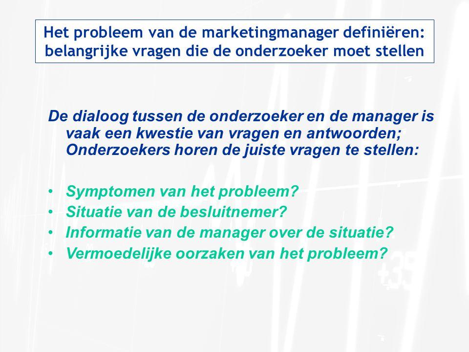Het probleem van de marketingmanager definiëren: belangrijke vragen die de onderzoeker moet stellen