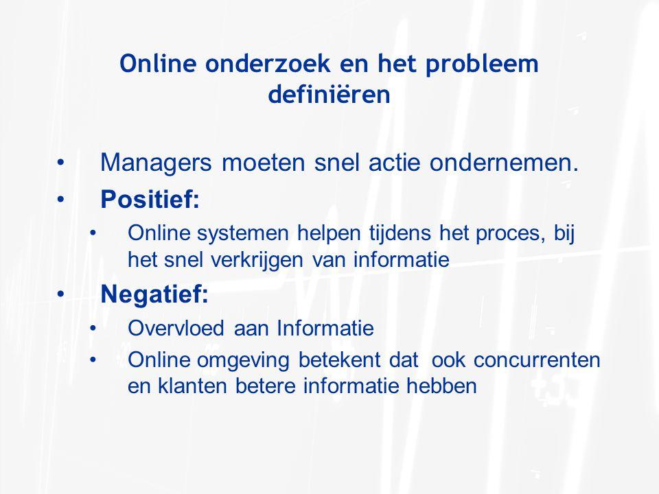 Online onderzoek en het probleem definiëren