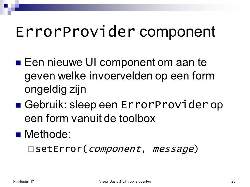 ErrorProvider component
