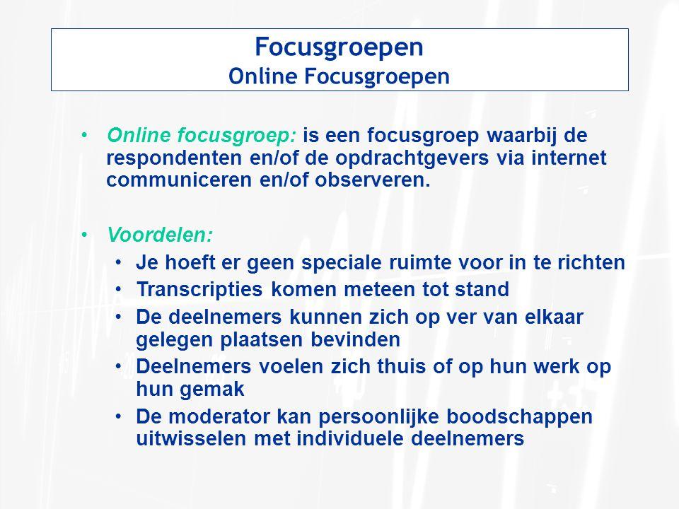 Focusgroepen Online Focusgroepen