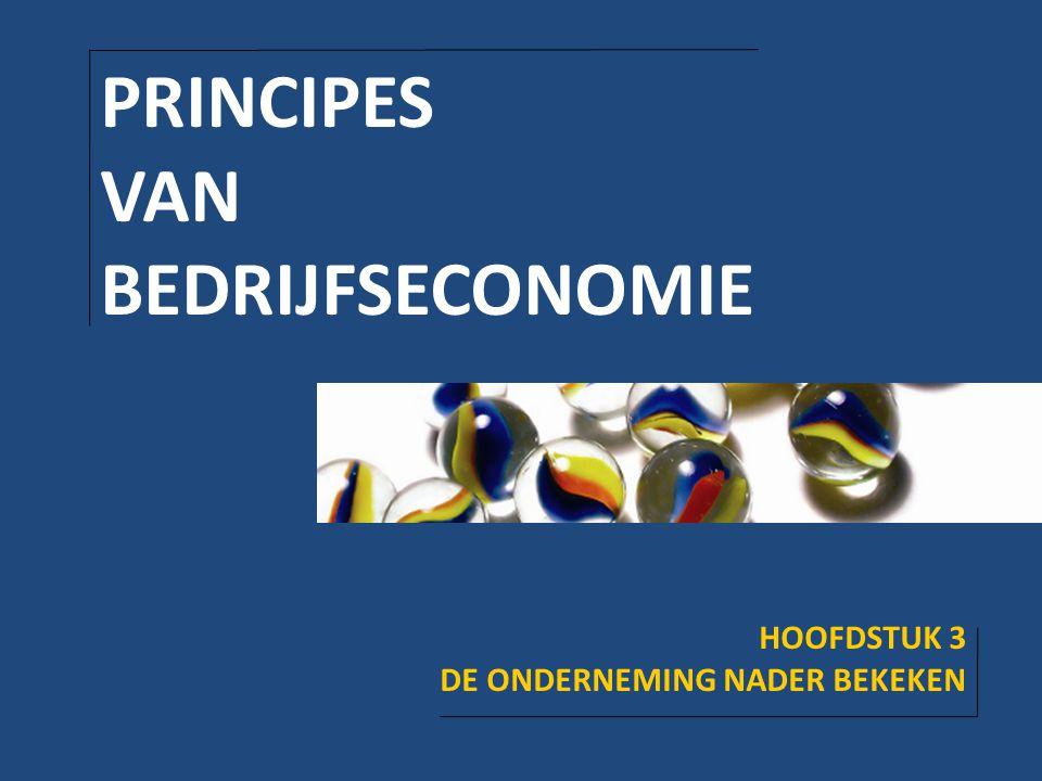 PRINCIPES VAN BEDRIJFSECONOMIE HOOFDSTUK 3