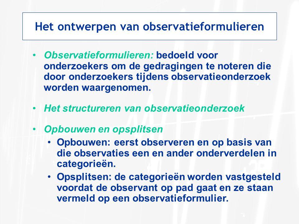 Het ontwerpen van observatieformulieren