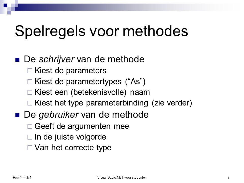Spelregels voor methodes