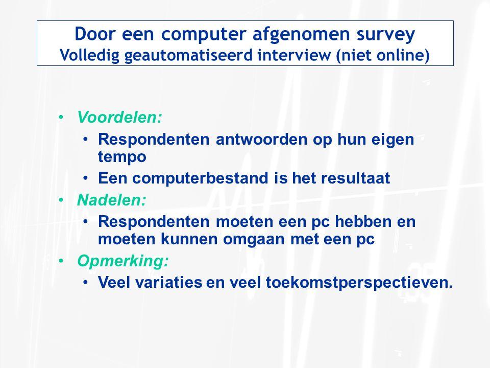 Door een computer afgenomen survey