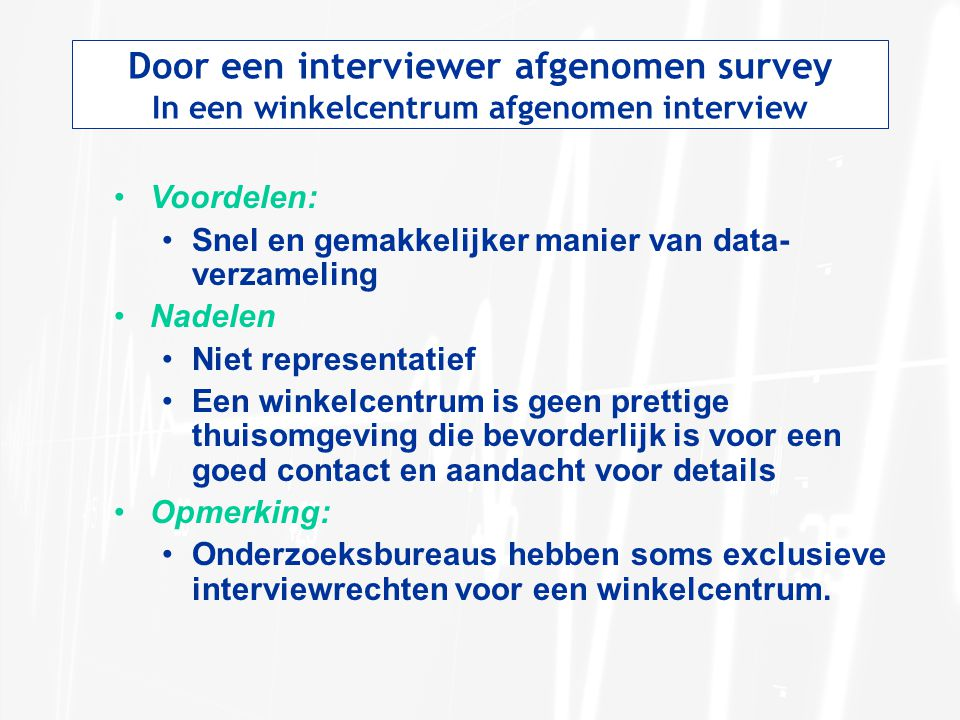 Door een interviewer afgenomen survey