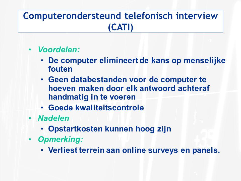 Computerondersteund telefonisch interview (CATI)