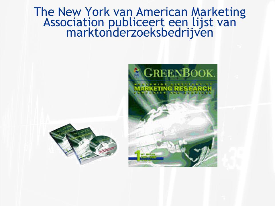 The New York van American Marketing Association publiceert een lijst van marktonderzoeksbedrijven