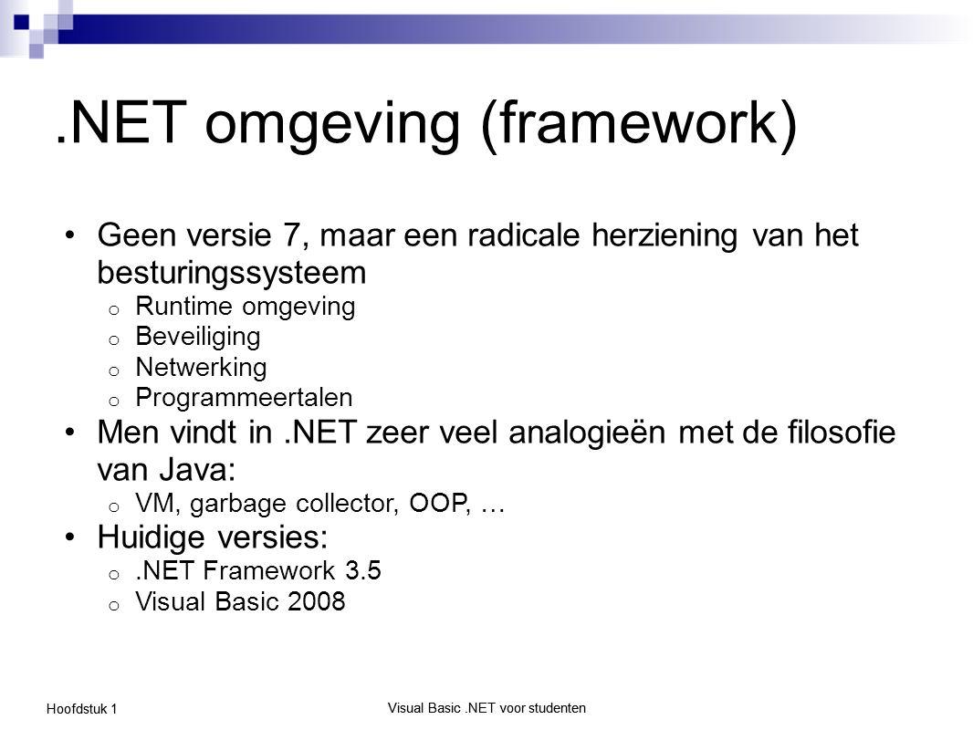 .NET omgeving (framework)