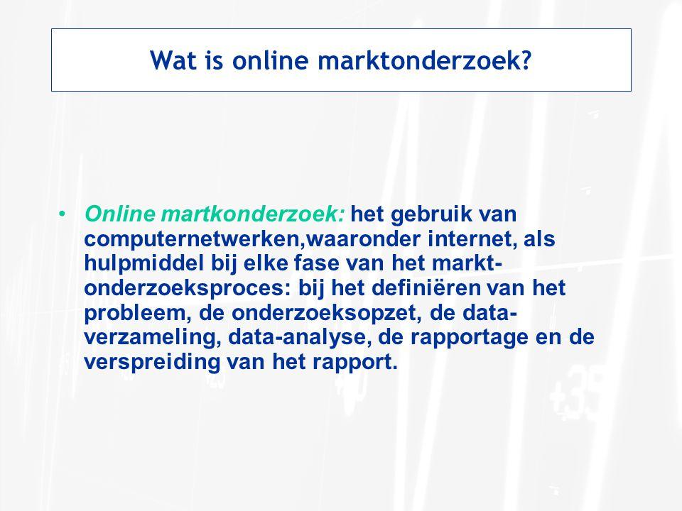 Wat is online marktonderzoek