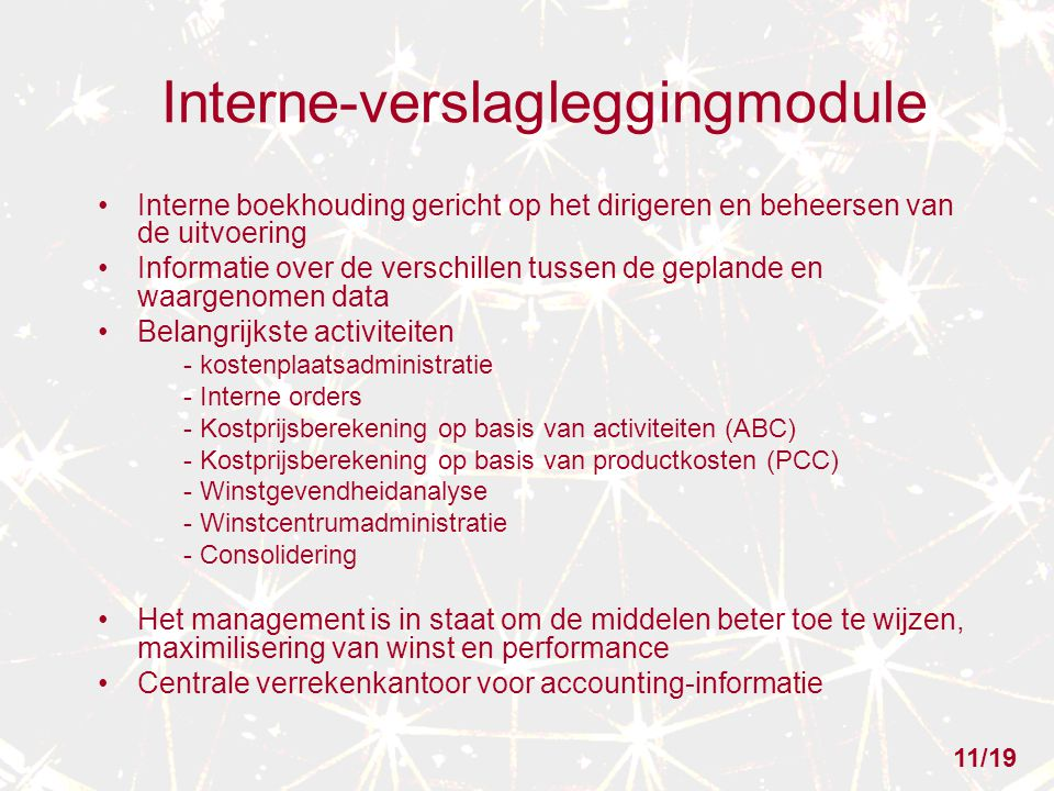 Interne-verslagleggingmodule