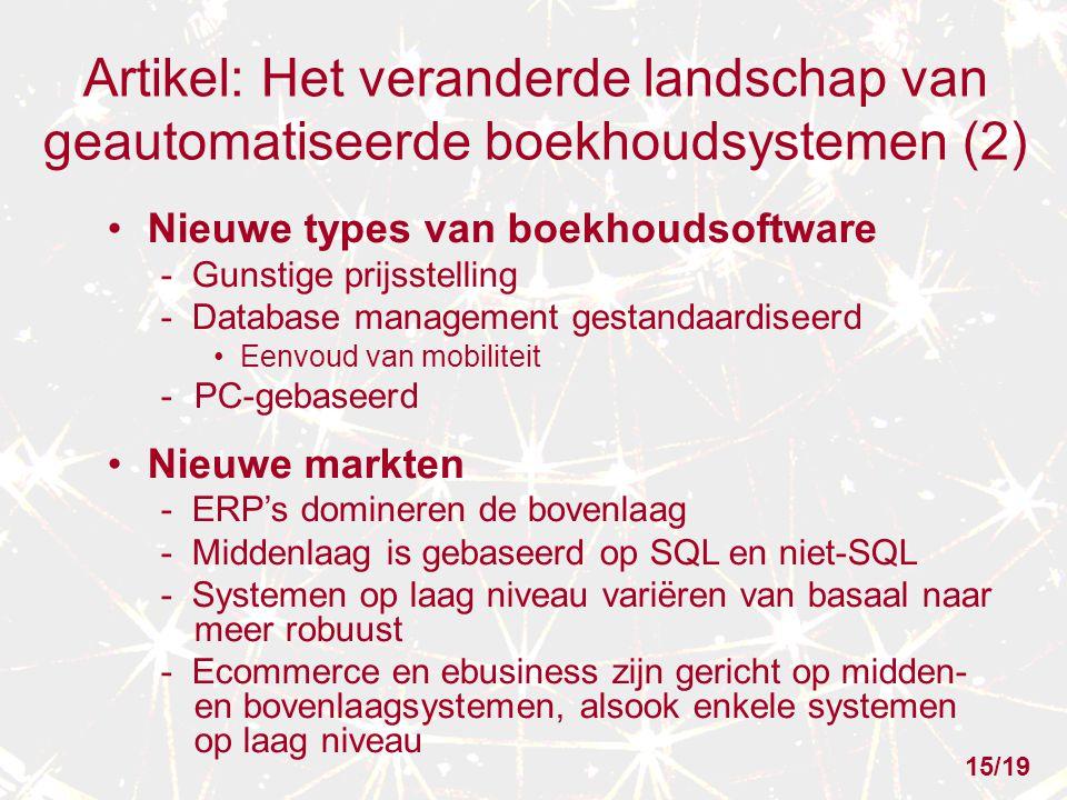 Artikel: Het veranderde landschap van geautomatiseerde boekhoudsystemen (2)