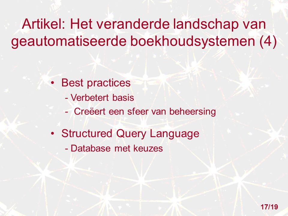 Artikel: Het veranderde landschap van geautomatiseerde boekhoudsystemen (4)