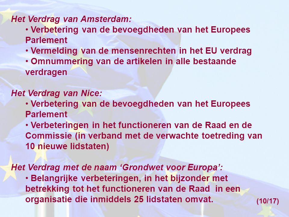 Het Verdrag van Amsterdam: