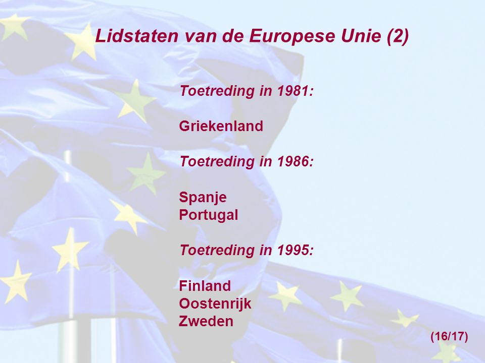 Lidstaten van de Europese Unie (2)