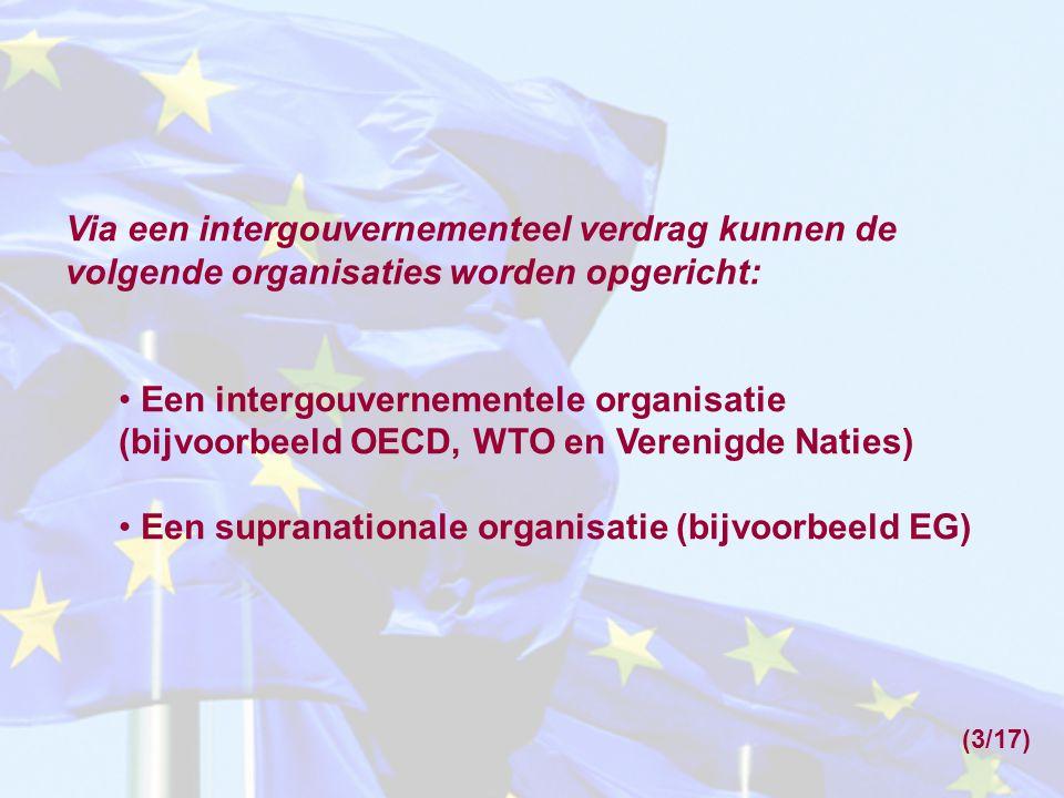 Een supranationale organisatie (bijvoorbeeld EG)