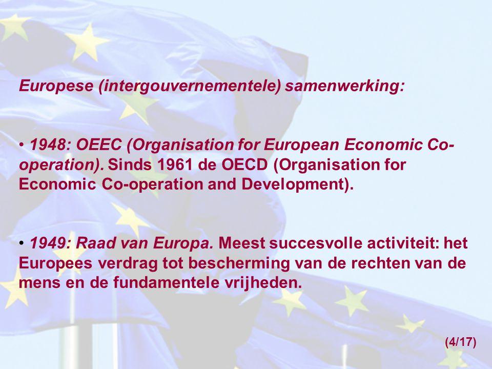 Europese (intergouvernementele) samenwerking: