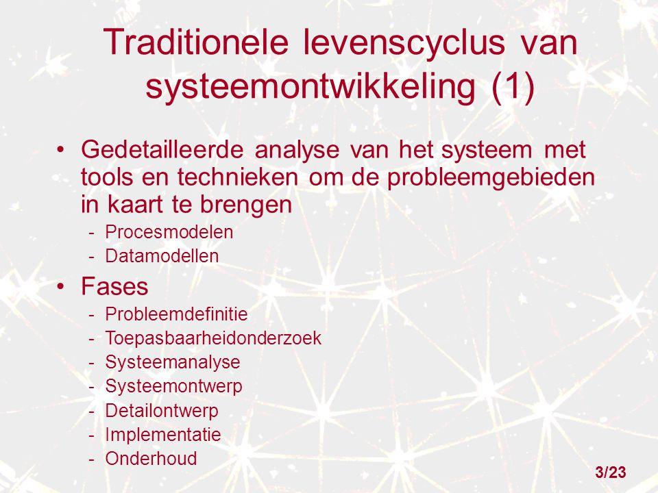 Traditionele levenscyclus van systeemontwikkeling (1)