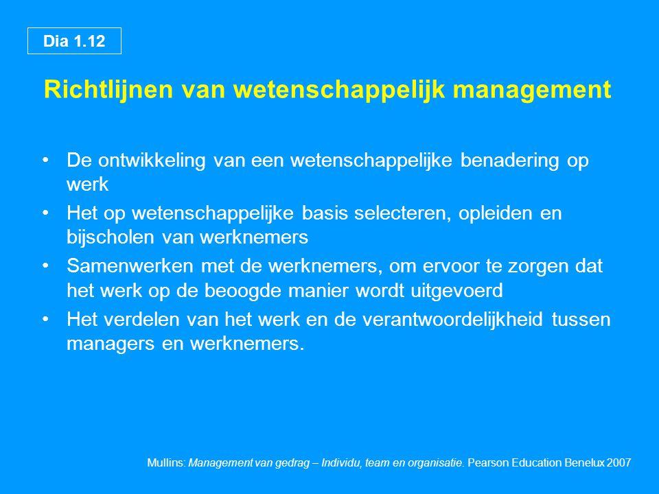 Richtlijnen van wetenschappelijk management