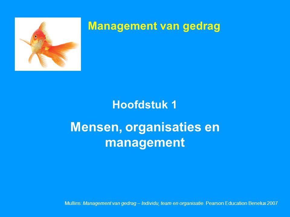 Mensen, organisaties en management