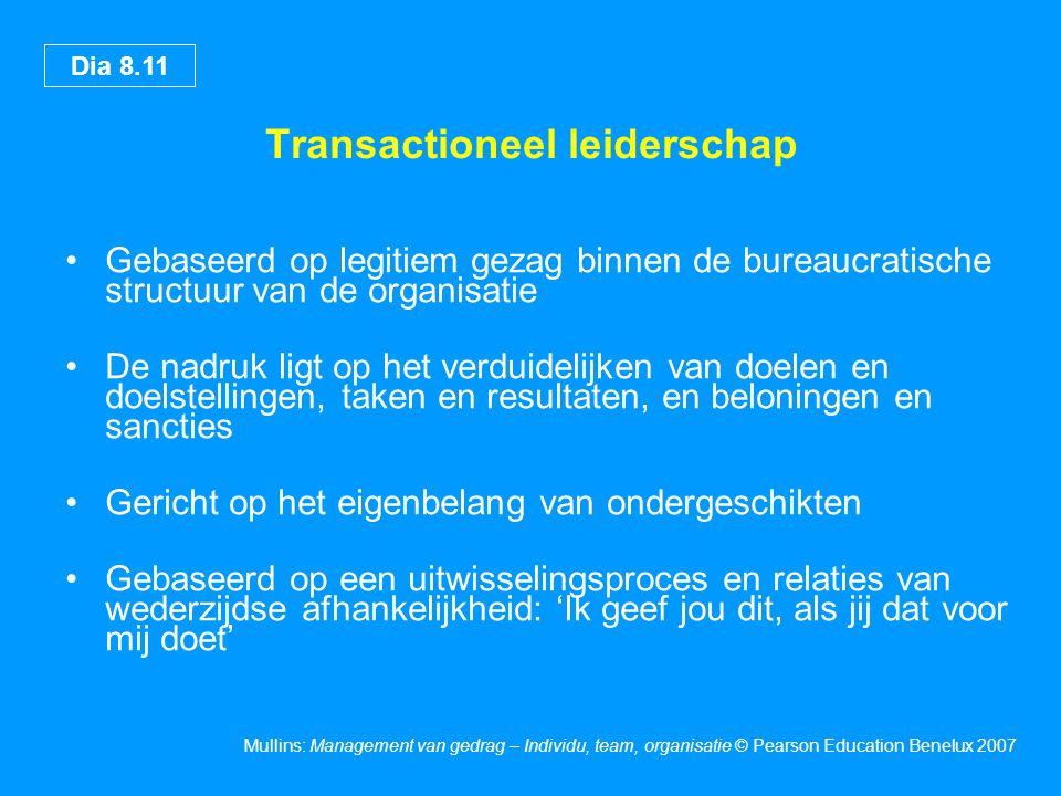 Transactioneel leiderschap