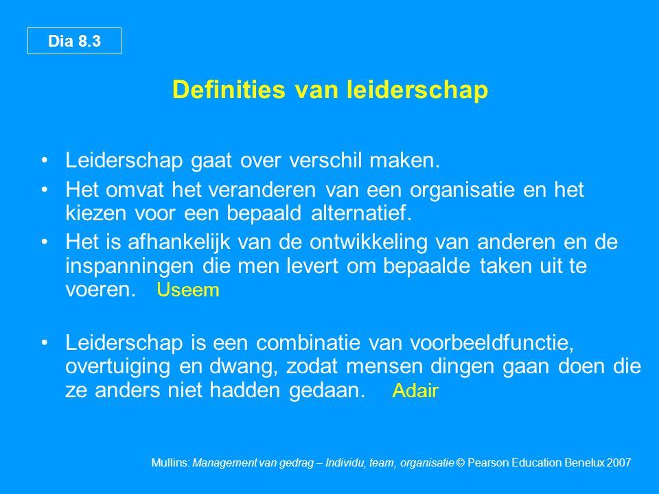 Definities van leiderschap