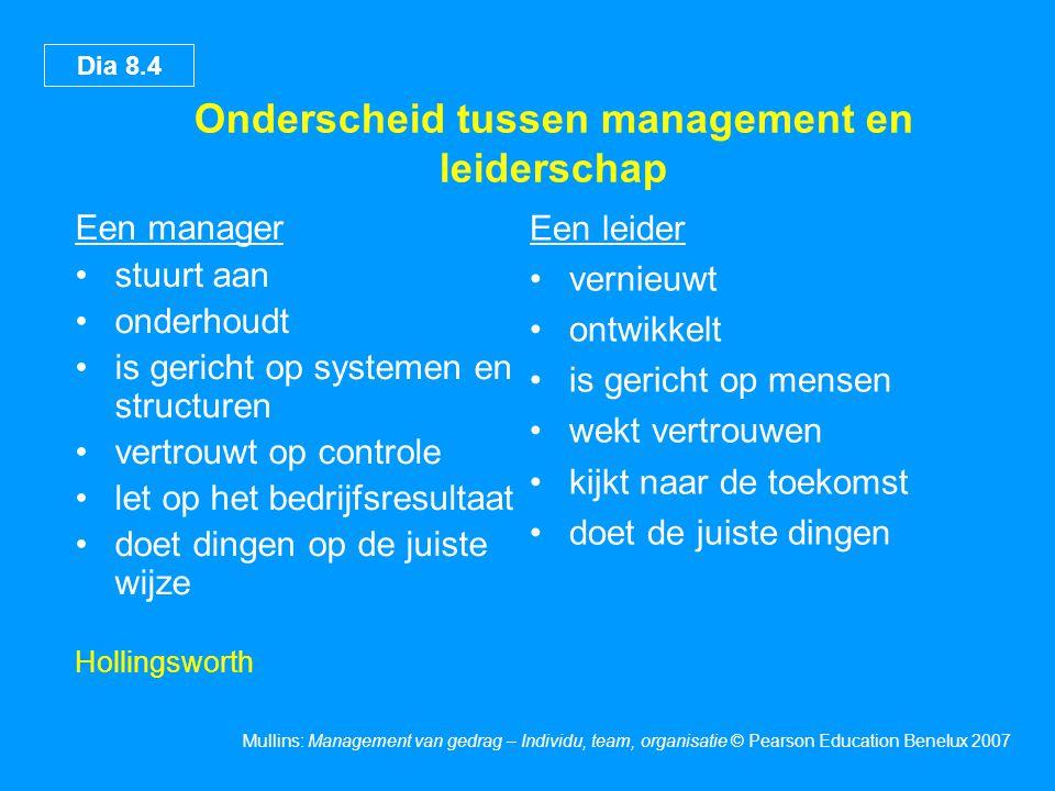 Onderscheid tussen management en leiderschap