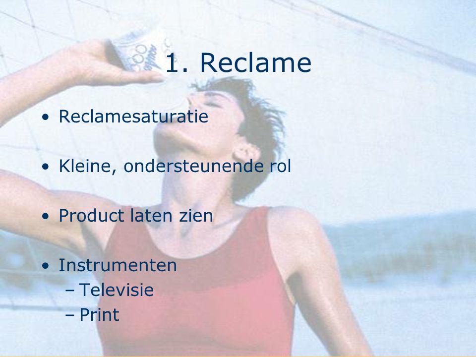 1. Reclame Reclamesaturatie Kleine, ondersteunende rol