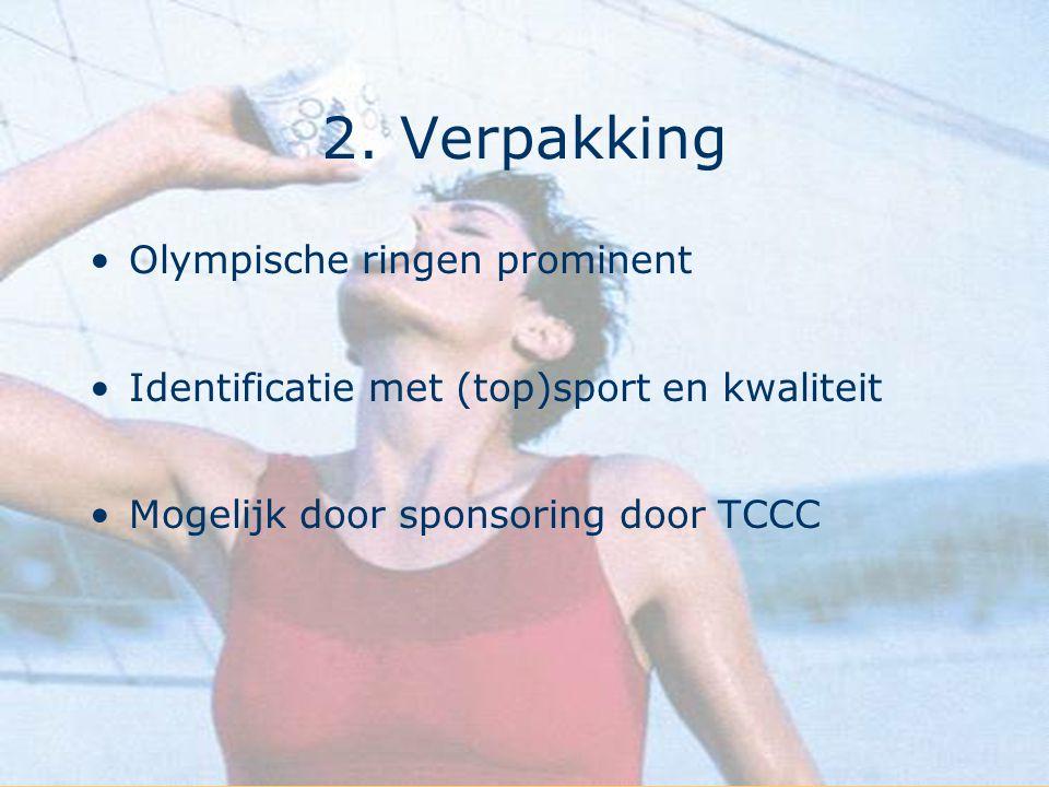 2. Verpakking Olympische ringen prominent