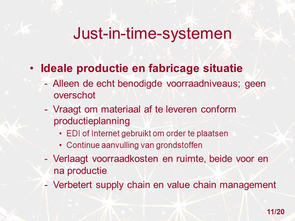 Just-in-time-systemen
