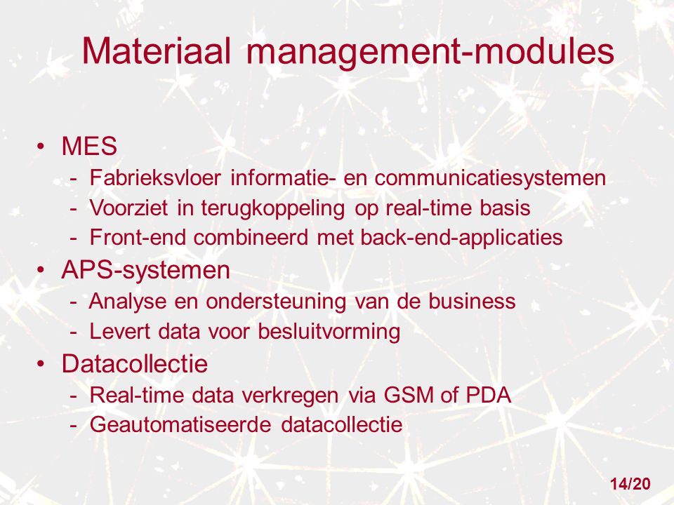 Materiaal management-modules