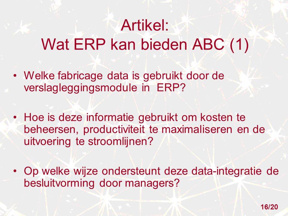 Artikel: Wat ERP kan bieden ABC (1)