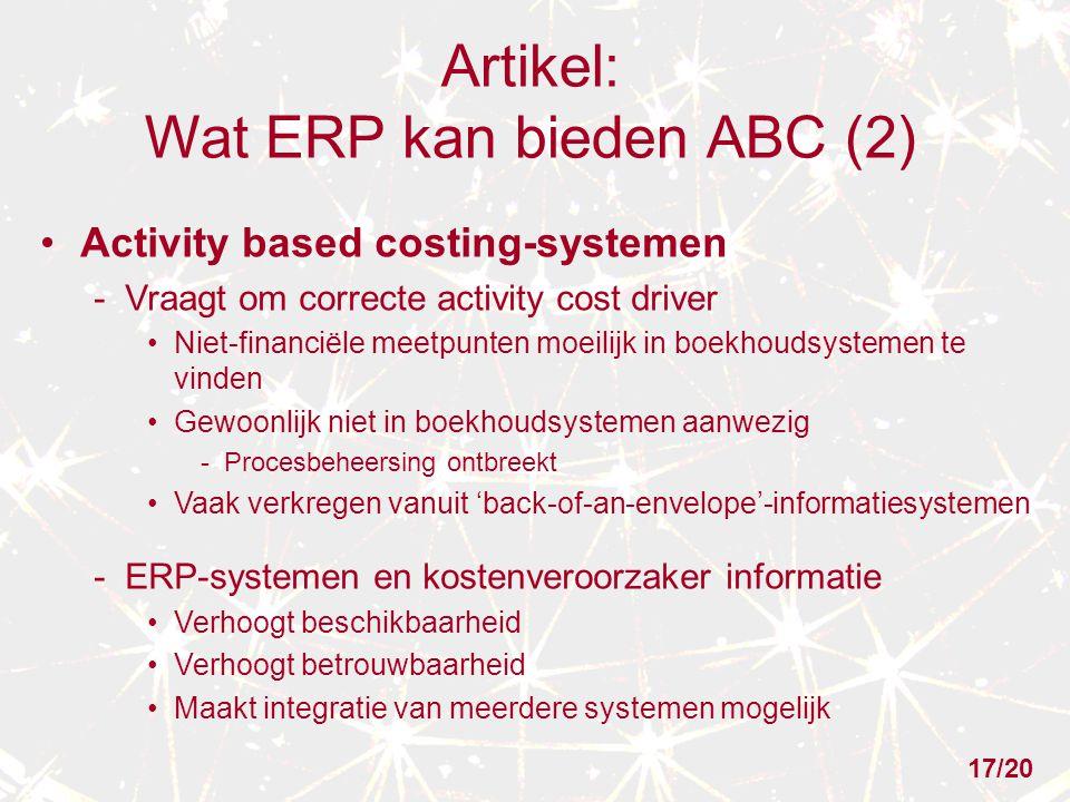 Artikel: Wat ERP kan bieden ABC (2)