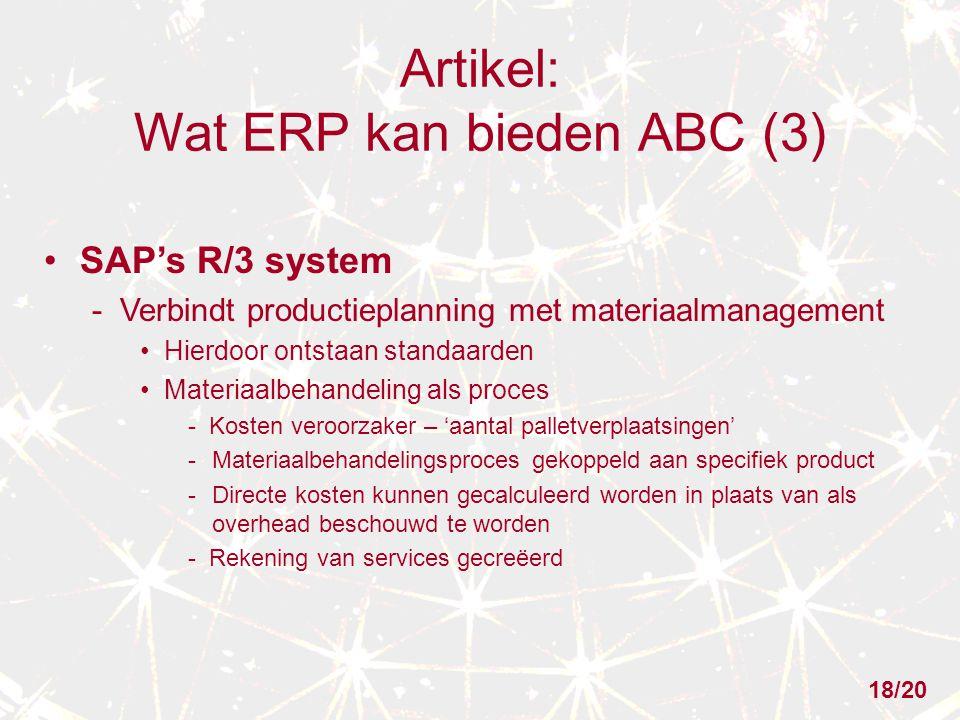 Artikel: Wat ERP kan bieden ABC (3)