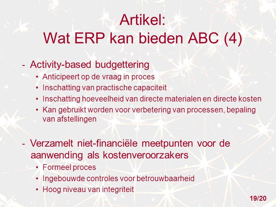 Artikel: Wat ERP kan bieden ABC (4)