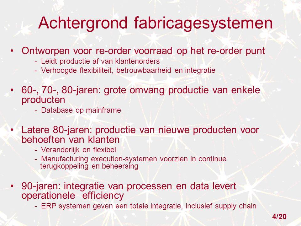 Achtergrond fabricagesystemen