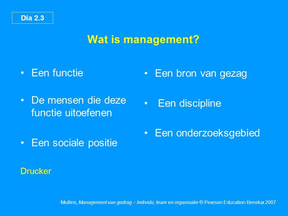 Wat is management Een functie Een bron van gezag