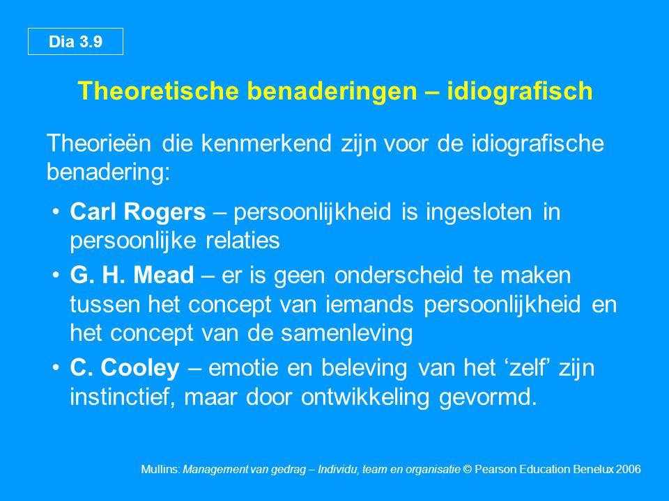 Theoretische benaderingen – idiografisch