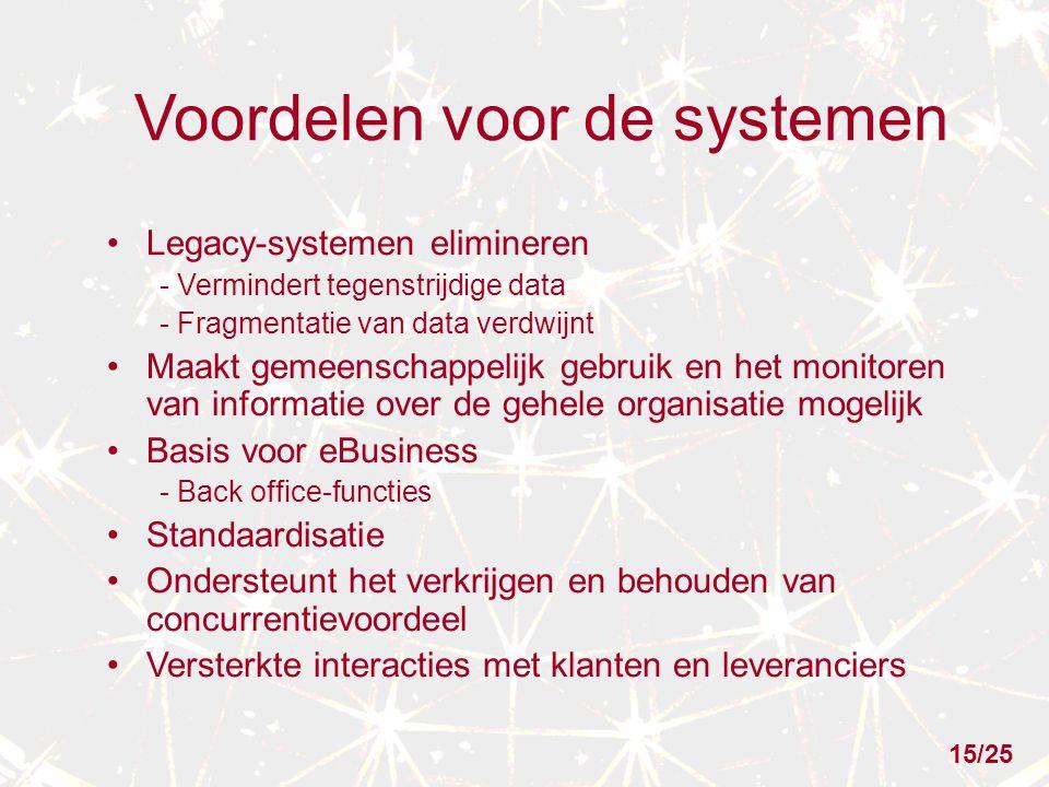 Voordelen voor de systemen