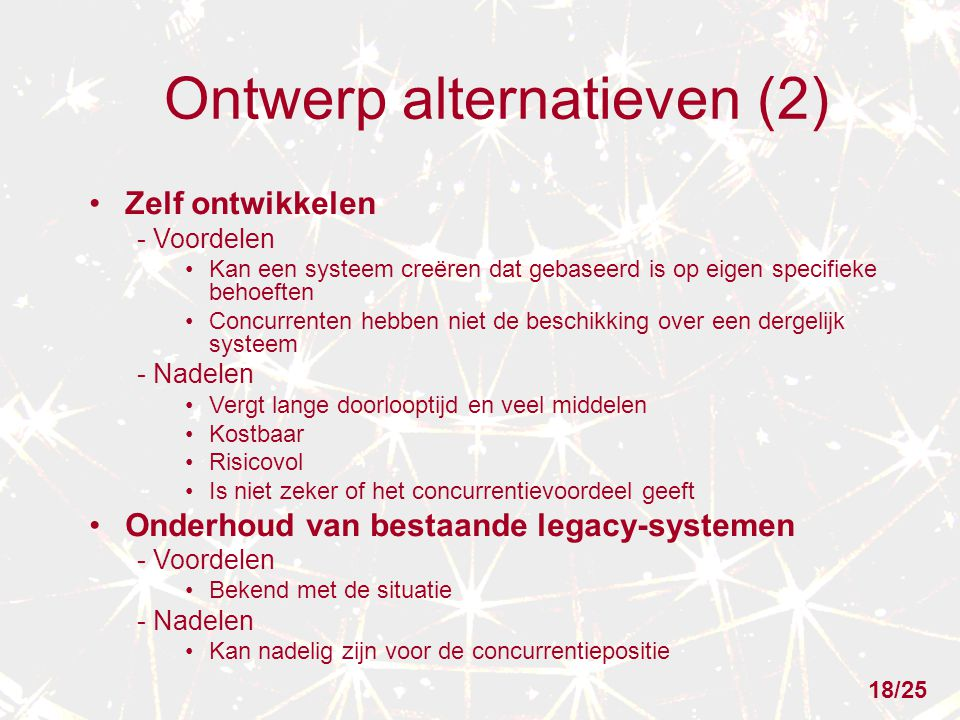 Ontwerp alternatieven (2)