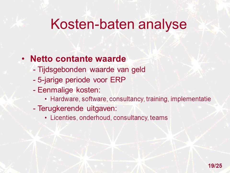 Kosten-baten analyse Netto contante waarde