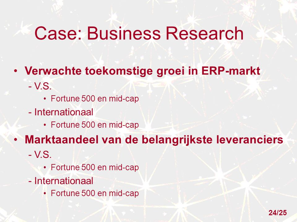 Case: Business Research