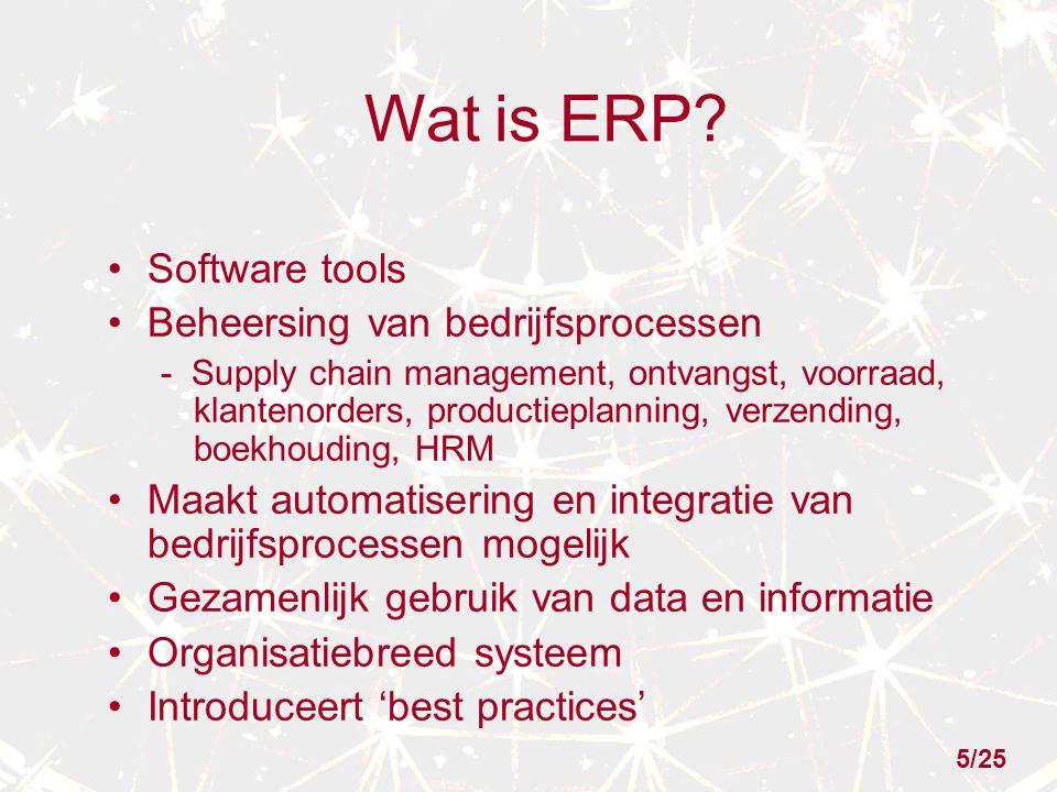 Wat is ERP Software tools Beheersing van bedrijfsprocessen