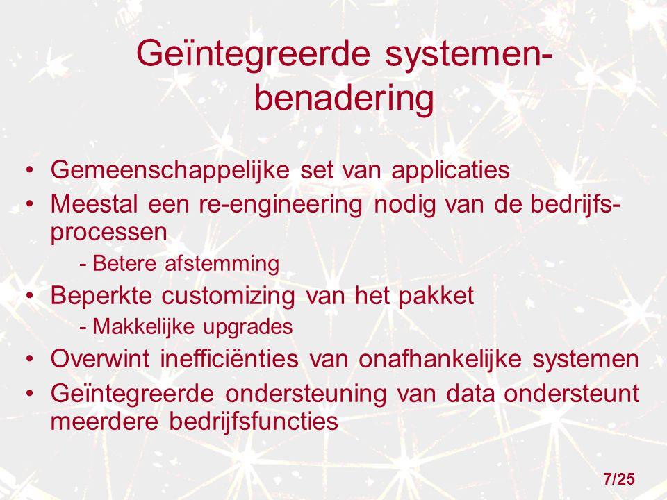 Geïntegreerde systemen- benadering