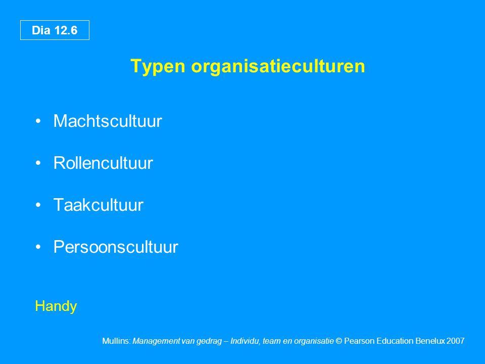 Typen organisatieculturen