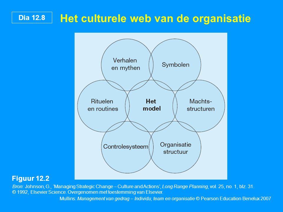 Het culturele web van de organisatie