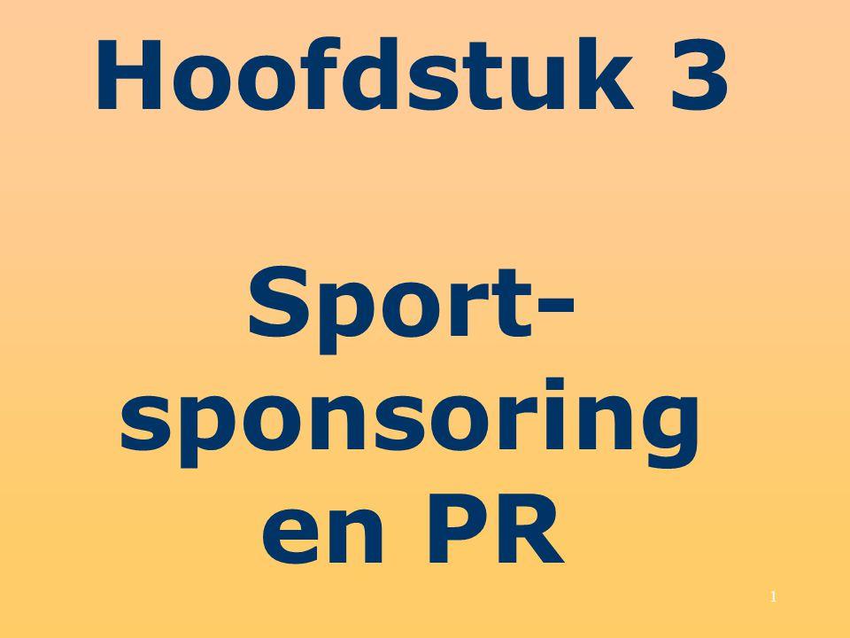 Hoofdstuk 3 Sport-sponsoring en PR