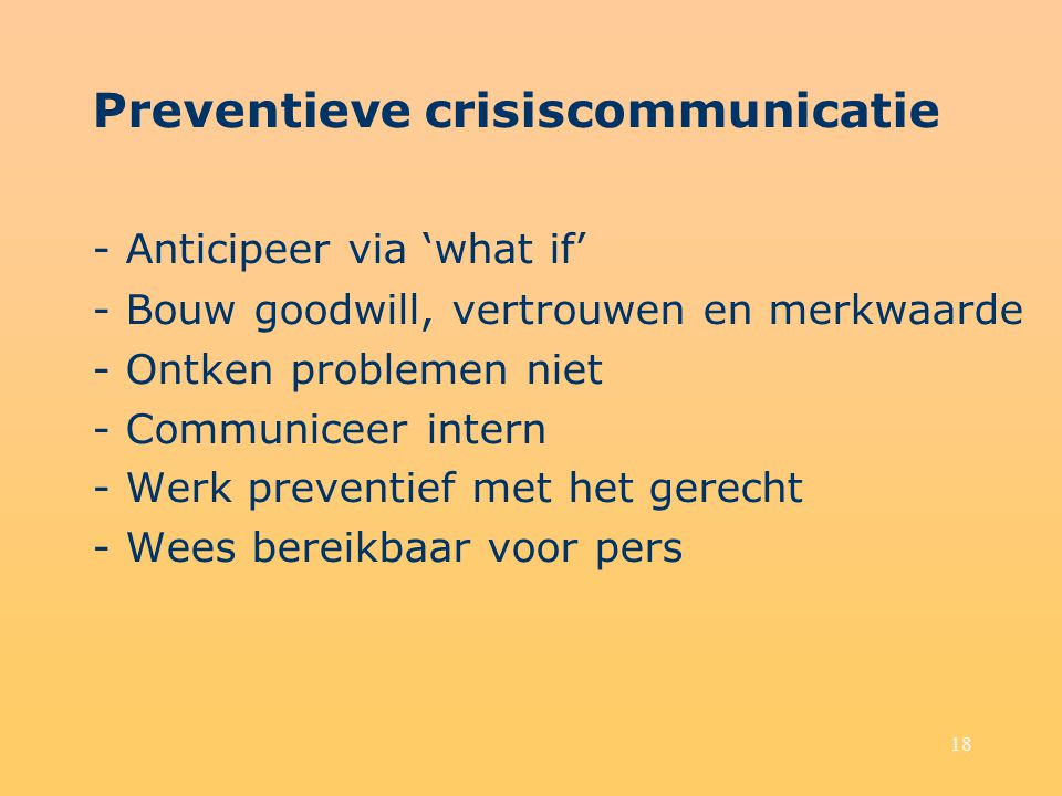 Preventieve crisiscommunicatie - Anticipeer via 'what if'